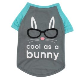 Wakeu Pet Puppy cool as a Bunny Clothing Small Dogs Boy T-Shirts Costume Summer