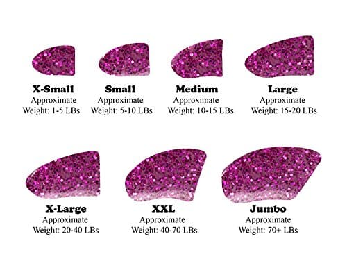 40-Pack Soft Nail Caps For Dogs Claws ROYAL PINK GLITTER Purrdy Paws 3
