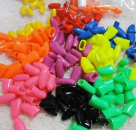 120Pcs(12Color) Dog Claw Caps Soft Rubber Pet Paws Nail Grooming Cover + 6 Adhesive Glue 2