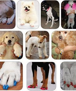 120Pcs(12Color) Dog Claw Caps Soft Rubber Pet Paws Nail Grooming Cover + 6 Adhesive Glue 5
