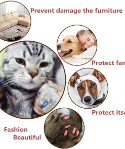 120Pcs(12Color) Dog Claw Caps Soft Rubber Pet Paws Nail Grooming Cover + 6 Adhesive Glue 6
