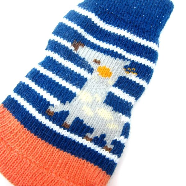 Alfie Pet by Petoga Couture - Gari 2 Set of 4 Dog Paw Protection Indoor Socks - Color- Navy Stripe and Red, Size- Small 8
