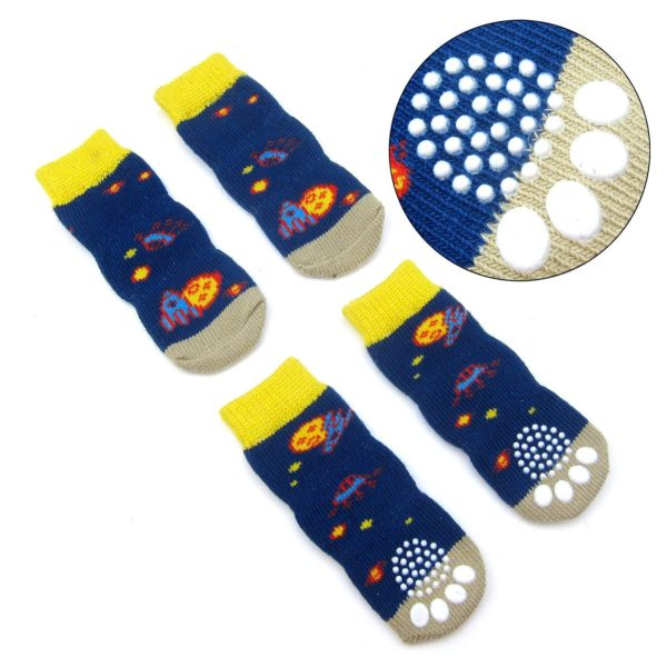Alfie Pet by Petoga Couture - Mako 2 Set of 4 Dog Paw Protection Indoor Socks 4