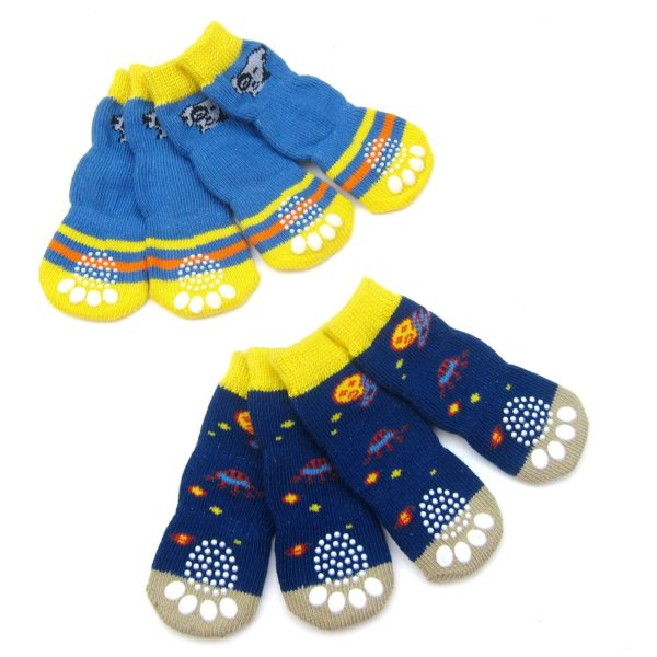 Alfie Pet by Petoga Couture - Mako 2 Set of 4 Dog Paw Protection Indoor Socks 5