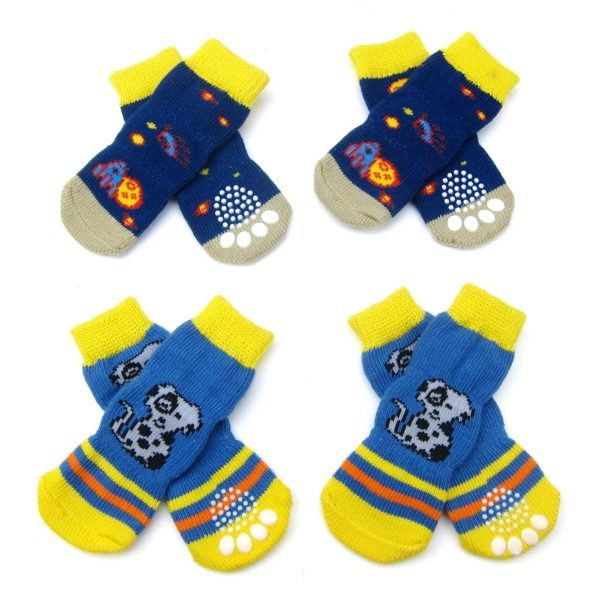 Alfie Pet by Petoga Couture - Mako 2 Set of 4 Dog Paw Protection Indoor Socks