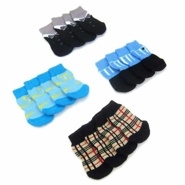 Alfie Pet by Petoga Couture - Sawyer 4 Set of 4 Dog Paw Protection Indoor Socks - Size- Small 2