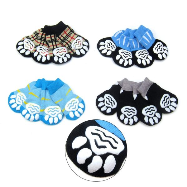 Alfie Pet by Petoga Couture - Sawyer 4 Set of 4 Dog Paw Protection Indoor Socks - Size- Small 3