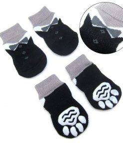Alfie Pet by Petoga Couture - Sawyer 4 Set of 4 Dog Paw Protection Indoor Socks - Size- Small 4