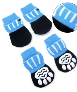 Alfie Pet by Petoga Couture - Sawyer 4 Set of 4 Dog Paw Protection Indoor Socks - Size- Small 5