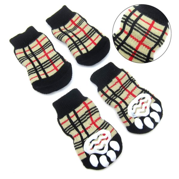 Alfie Pet by Petoga Couture - Sawyer 4 Set of 4 Dog Paw Protection Indoor Socks - Size- Small 6