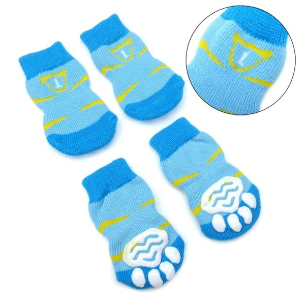 Alfie Pet by Petoga Couture - Sawyer 4 Set of 4 Dog Paw Protection Indoor Socks - Size- Small 8
