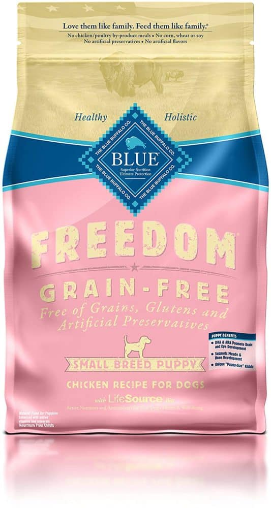 Blue Buffalo Freedom Grain Free Natural Puppy Small Breed Dry Dog Food, Chicken 4-lb