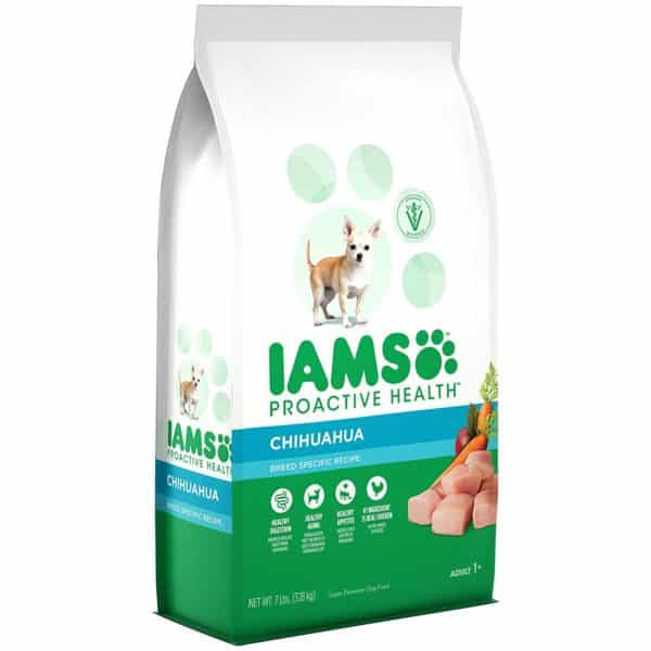 Iams ProActive Health Adult Chihuahua Dry Dog Food, Chicken Flavor, 7 Pound Bag