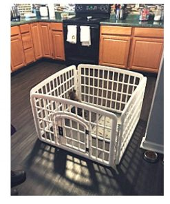 Little Dog Pen Exercise Indoor 24-Inch with Door Lock House Pet 4 Panel Gate Enclosure Xpen Fence Playpen & eBook by OISTRIA