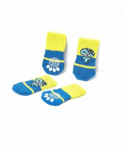 Nothing But Love Pets Toy Small Dog Non Slip 2 sock packs (8 pcs) For Yorkie Pom Maltese Chihuahua (Small size, blue, yellow, pirate) 4