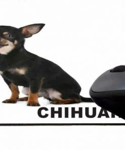 Rikki Knight I Love My Black Chihuahua Dog Design Lightning Series Gaming Mouse Pad (MPSQ-RK-44813)