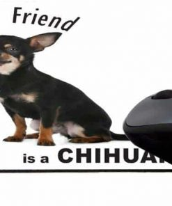 Rikki Knight My Best Friend is a Black Chihuahua Dog Design Lightning Series Gaming Mouse Pad (MPSQ-RK-44810)