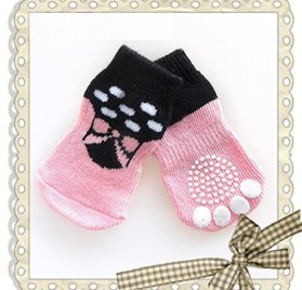 Small Dog Sock, Puppy Anti-Slip Socks Comfortable Shoes Boots With Rubber Reinforcement Soft of 4pcs Breathable Sock Design For Pet Dogs 2