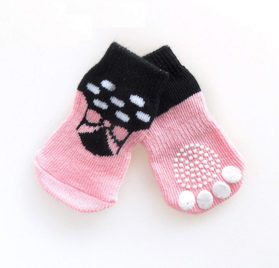 Small Dog Sock, Puppy Anti-Slip Socks Comfortable Shoes Boots With Rubber Reinforcement Soft of 4pcs Breathable Sock Design For Pet Dogs