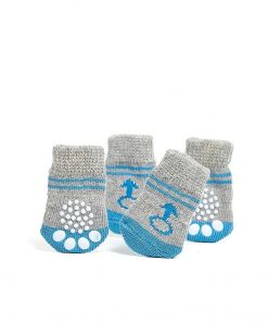 Toy Small Dog Non Slip 2 sock packs (8 pcs) For Yorkie Pom Maltese Chihuahua (Very Small Size, blue, gray, male signs) 3