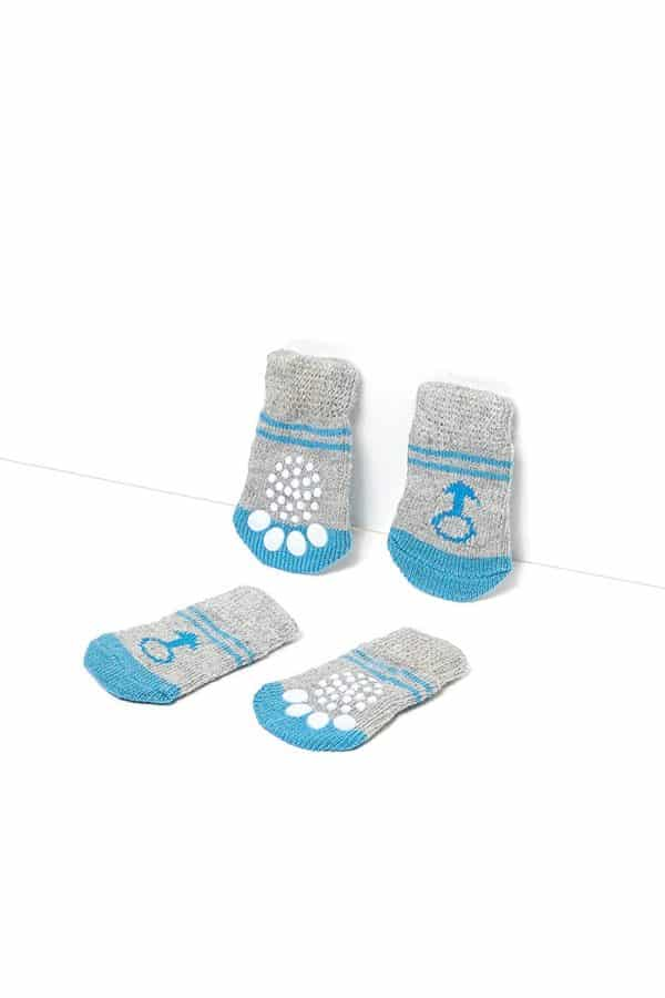 Toy Small Dog Non Slip 2 sock packs (8 pcs) For Yorkie Pom Maltese Chihuahua (Very Small Size, blue, gray, male signs) 4