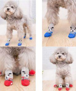 Traction Control Cotton Socks Indoor Dog Nonskid Knit Socks 5 Pairs Random Color 7