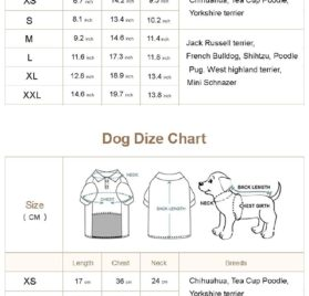 lovelonglong Pet Clothing Dog Clothes Pajamas T-shirts Tee Shirt For Small Size Dogs 2