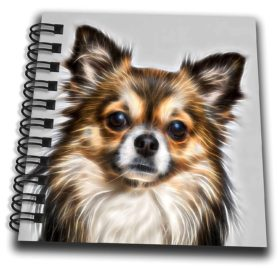 3dRose Sven Herkenrath Animal - Photo of a Cute Little Chihuahua on Grey Background - Mini Notepad 4 x 4 inch (db_280407_3)