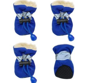 4pcs Pet Dog Waterproof Anti-slip Rain Snow Boots Footwear Puppy Cats Thick Warm Socks