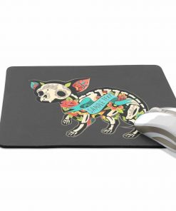 ALAZA Christmas Chihuahua Skeletons with Floral Non-Slip Rubber Decorate Gaming Mouse Pad 9.84 x 7.48 inch 2