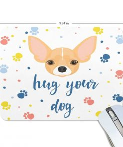 ALAZA Cute Chihuahua with Dog Paw Non-Slip Rubber Decorate Gaming Mouse Pad 9.84 x 7.48 inch