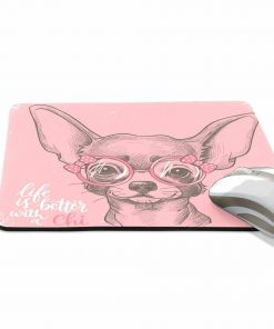 ALAZA Grunge Cute Chihuahua Dog Art Non-Slip Rubber Decorate Gaming Mouse Pad 9.84 x 7.48 inch 2