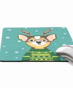 ALAZA Stylish Christmas Cute Chihuahua Non-Slip Rubber Decorate Gaming Mouse Pad 9.84 x 7.48 inch 2