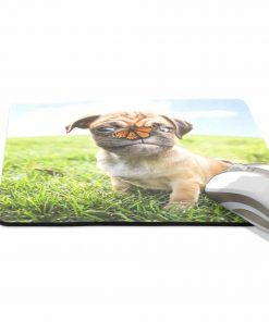 ALAZA Stylish Cute Chihuahua with Butterfly Non-Slip Rubber Decorate Gaming Mouse Pad 9.84 x 7.48 inch 2