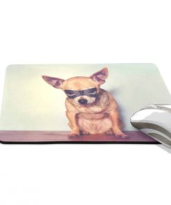 ALAZA Vintage Cool Chihuahua Dog Non-Slip Rubber Decorate Gaming Mouse Pad 9.84 x 7.48 inch 2