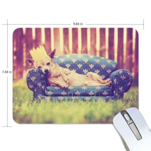 ALAZA Vintage Cute Chihuahua with Crown Non-Slip Rubber Decorate Gaming Mouse Pad 9.84 x 7.48 inch