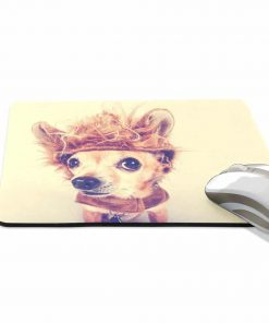 ALAZA Vintage Funny Chihuahua Dog Non-Slip Rubber Decorate Gaming Mouse Pad 9.84 x 7.48 inch 2