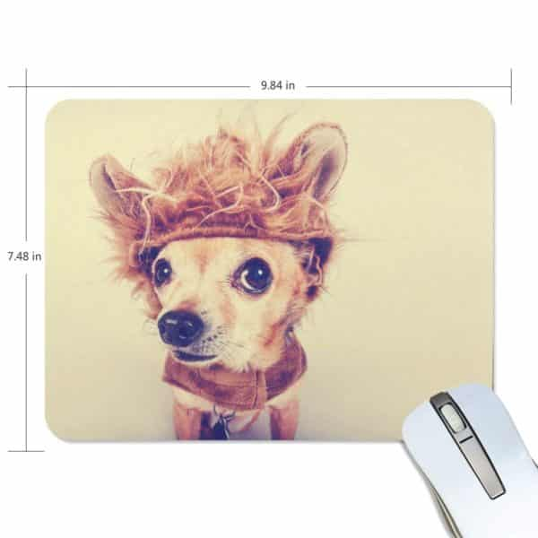ALAZA Vintage Funny Chihuahua Dog Non-Slip Rubber Decorate Gaming Mouse Pad 9.84 x 7.48 inch