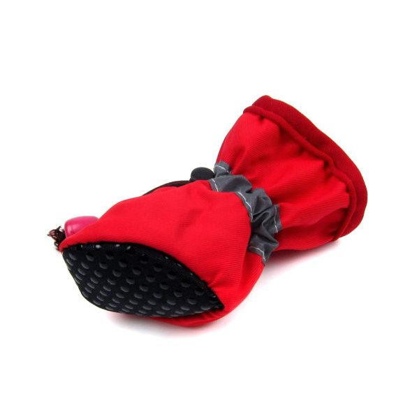 Alfie Pet by Petoga Couture - Hudson All Weather Set of 4 Dog Boots - Color- Red, Size- XS 3
