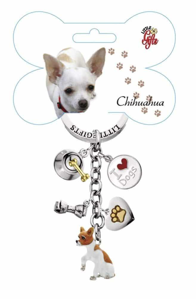 Littlegifts Hand Painted Chihuahua Keychain Chihuahua Kingdom