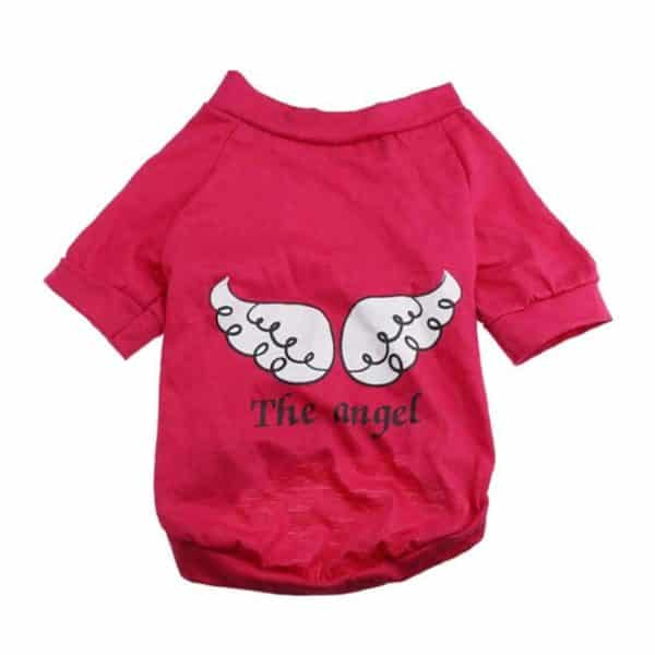 Pet Shirt, Wakeu The Angel wing Pattern Vest T-Shirts Summer Clothes for Small Dog Boy Girl (Red, XS)