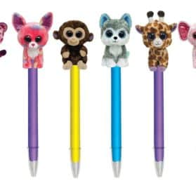 Ty Beanie Boo's Plush Pen, Medium Ball Point, Black Ink (Glamour) 2