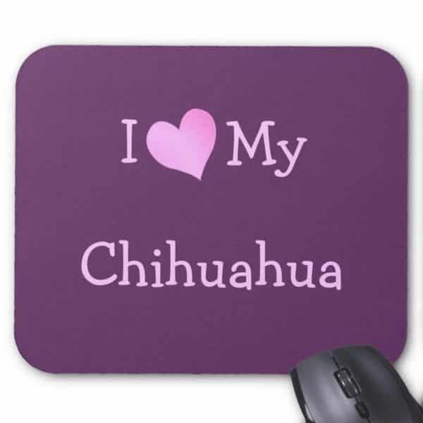 Zazzle I Love My Chihuahua Mouse Pad