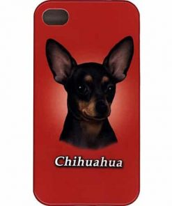 iPhone Dog Cover Protective Case for iPhone 4 4s - Dark Hair Chihuahua