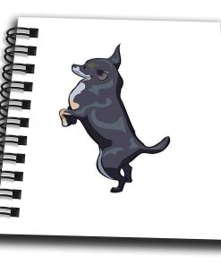 3dRose Cute and Cuddly Canine Black Chihuahua - Mini Notepad, 4 by 4-inch (db_128944_3)