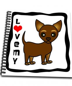 3dRose I Love My Chihuahua Chocolate Tan - Mini Notepad, 4 by 4-inch (db_12075_3)