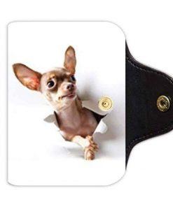 Bernie Gresham Chihuahua Dog-Custom Leather Card Holder