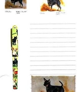 Black and Tan Chihuahua Stationery Gift Set
