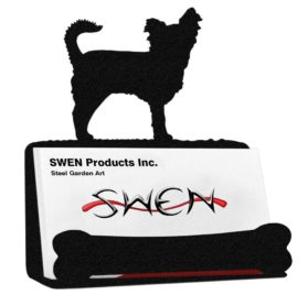 SWEN Products LONG HAIR CHIHUAHUA Business Card Holder