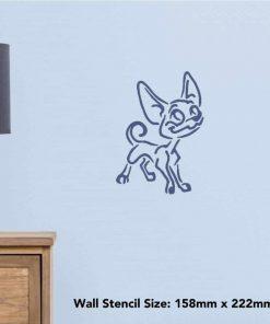 Azeeda A3 Chihuahua Dog Wall Stencil Template (WS00007957) 2